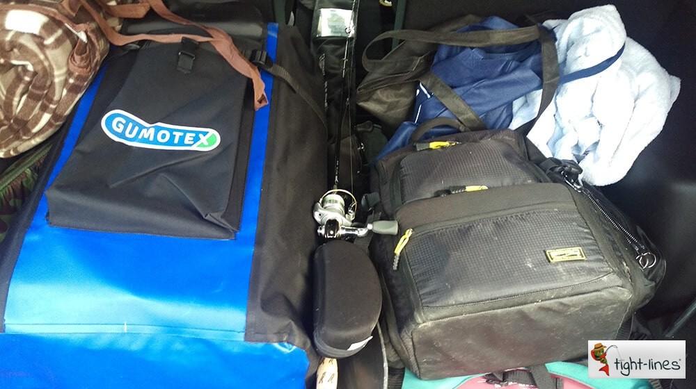 Gumotex Halibut passt perfekt in den Kofferraum